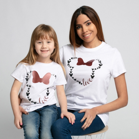 Camiseta Minnie love blanca