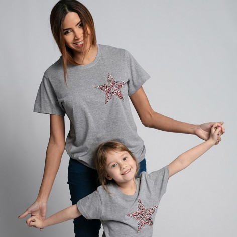 Camiseta Star strass gris