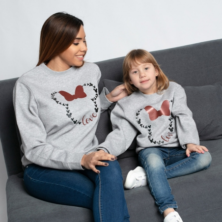 Sudadera Minnie Love gris