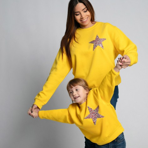 Sudadera Star Strass-colors amarilla
