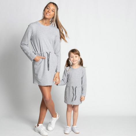 Gray Long Sleeve Sport Dress