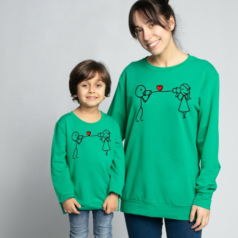 Green Phone Love sweatshirt