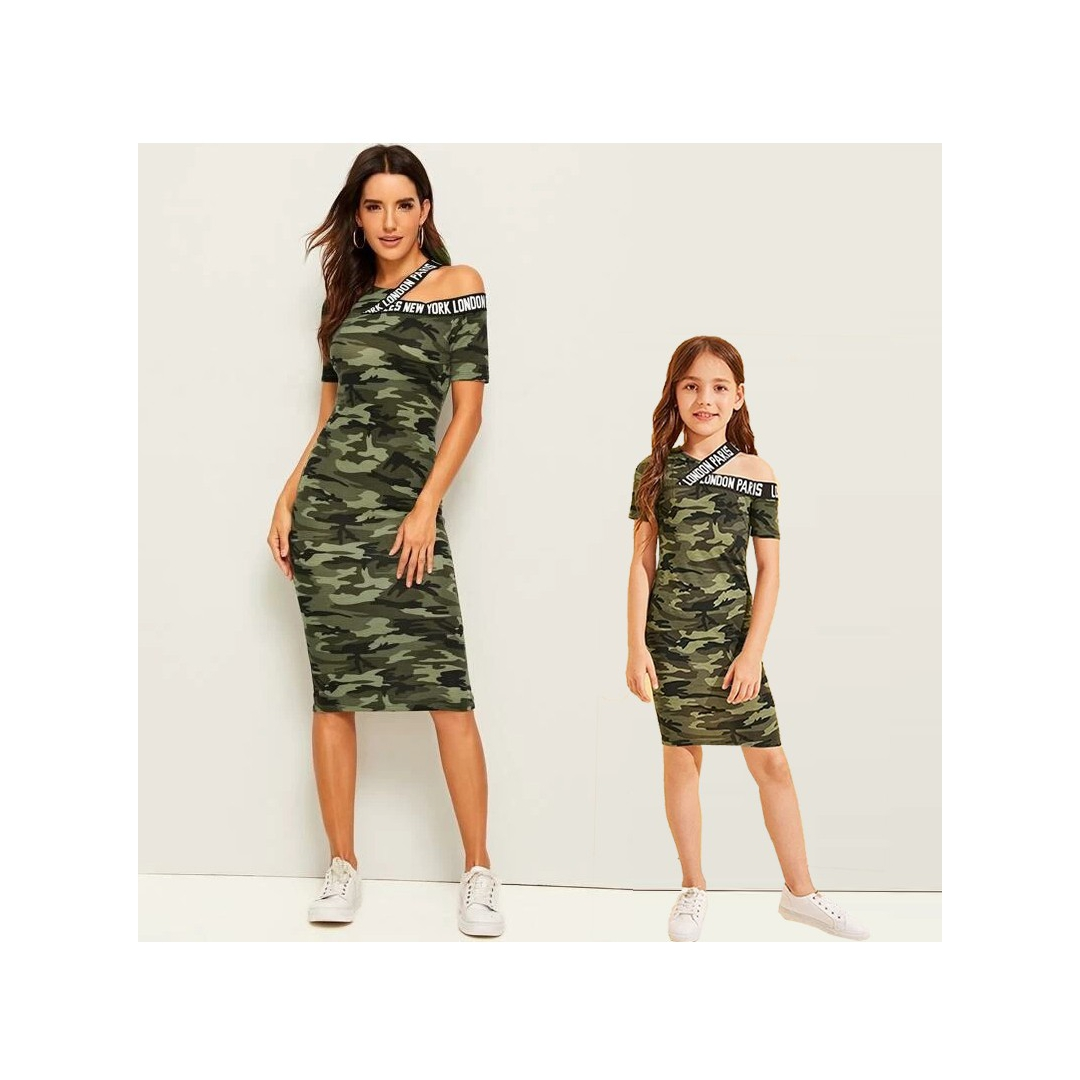 New York-London camouflage dress