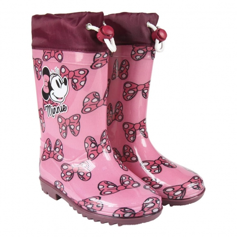 Minnie bow rain boots