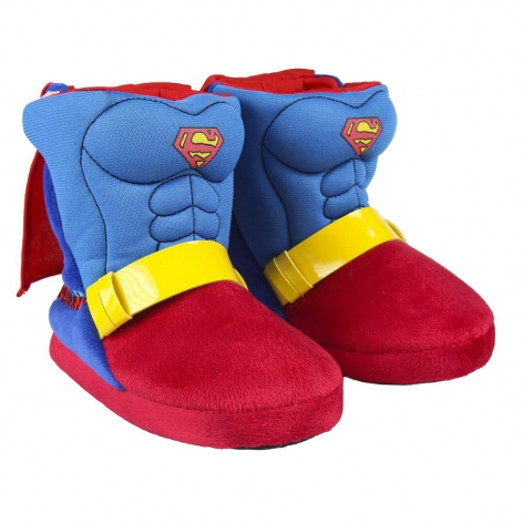 Superman boot slippers