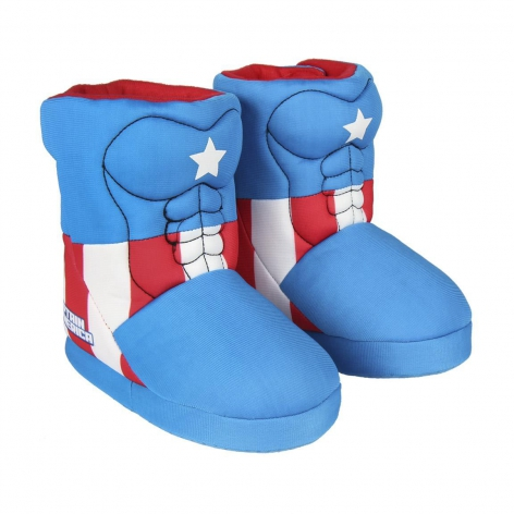 Captain America boot slippers