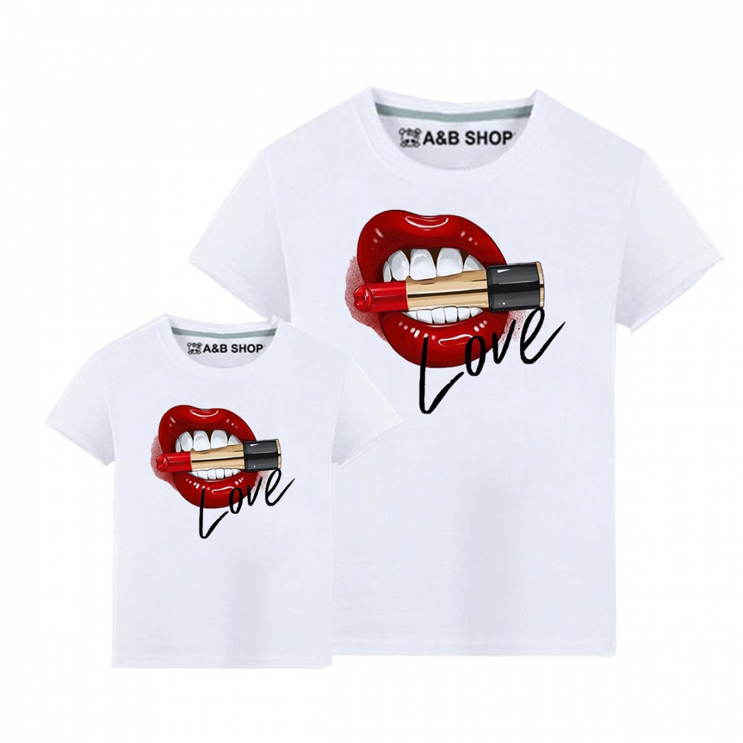 Camiseta lips love