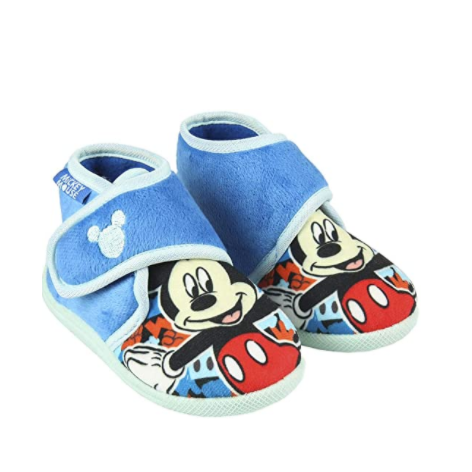 Mickey blue half boot slippers