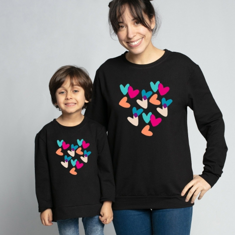 Colorful Hearts Sweatshirt