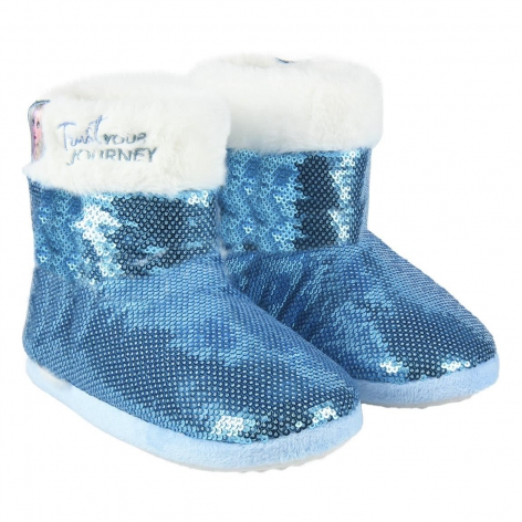 Frozen slippers with sequins
