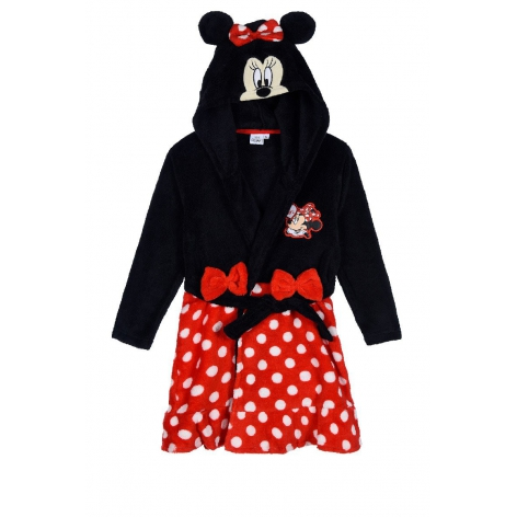 Minnie hooded robe with bows