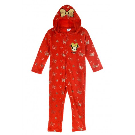 Minnie hooded jumpsuit with...