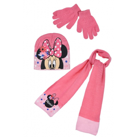 Minnie Flowers hat, gloves...
