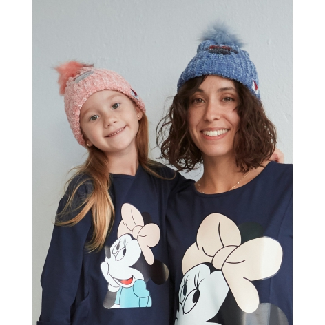Sequin and pompom Minnie hat