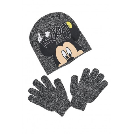 Mickey Out hat and gloves set