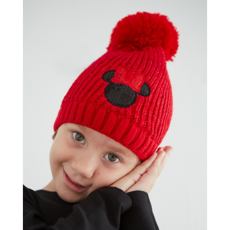 Minnie Red pompom hat
