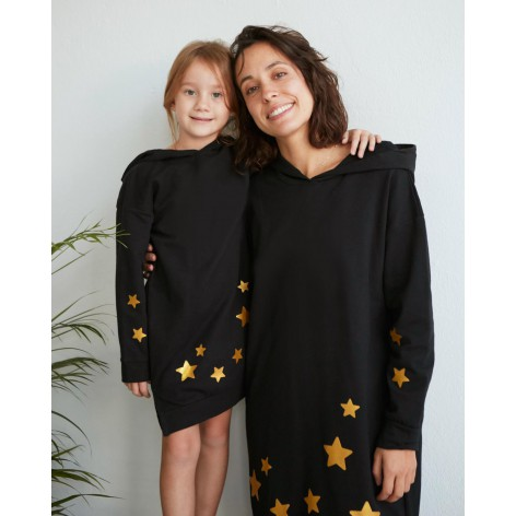 Star Dress Black