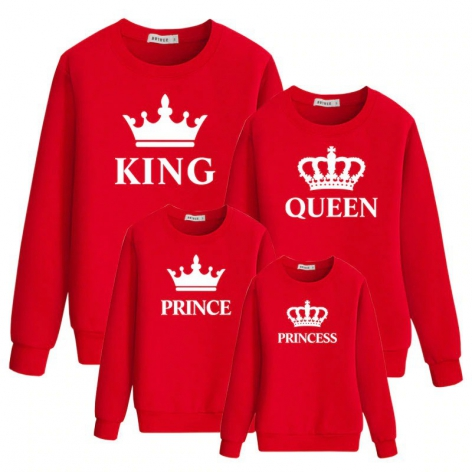 Sudadera Crown Blanca King-Queen-Prince-Princess