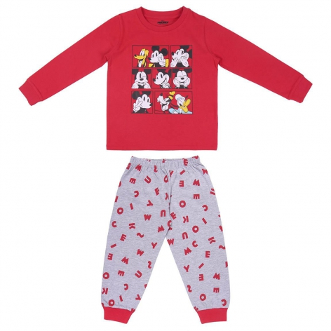 Mickey red letters pajamas
