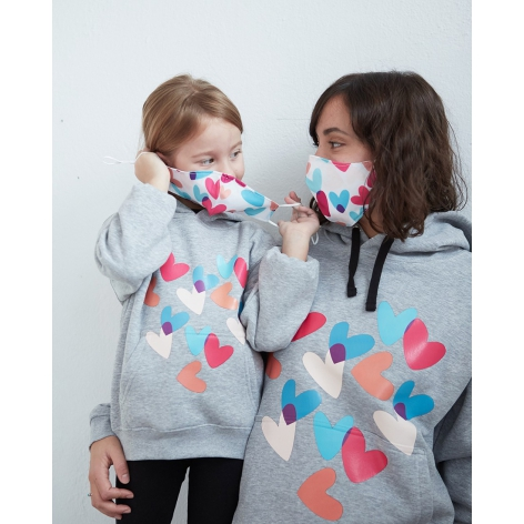 Colorful Hearts Mask