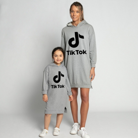 TIK-TOK Dress Gray