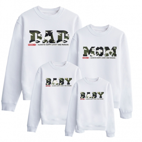 Sweat militaire Dad Mom & Baby