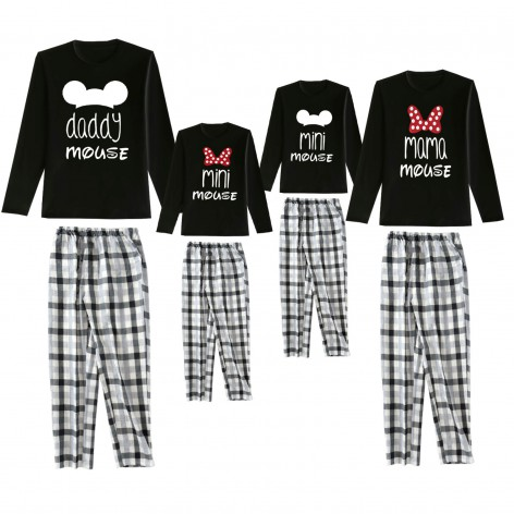 Familiy Mouse pajamas black...