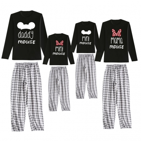 Family Mouse pajamas black...