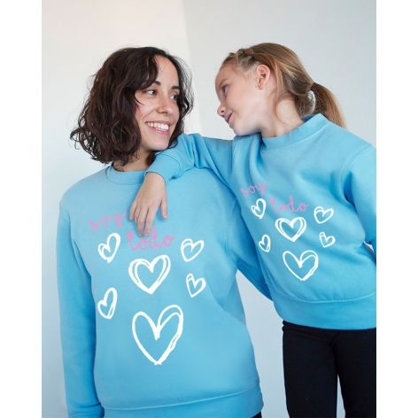 I'm all blue heart sweatshirt