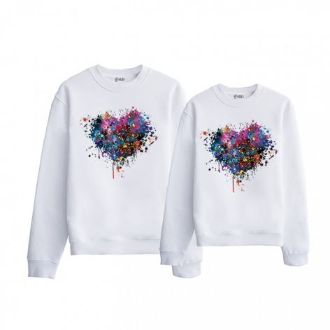 Gradient heart sweatshirt