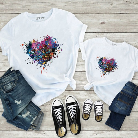 Gradient heart t-shirt