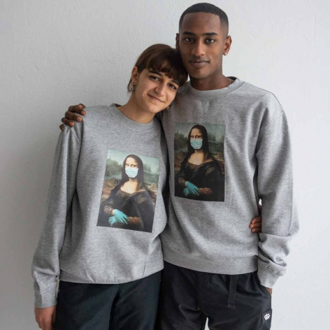Mona Lisa mask sweatshirt