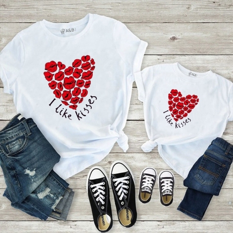 I like kisses t-shirt
