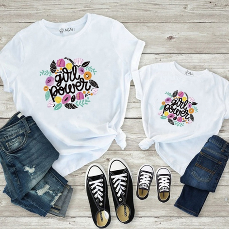 Girl power flowers t-shirt