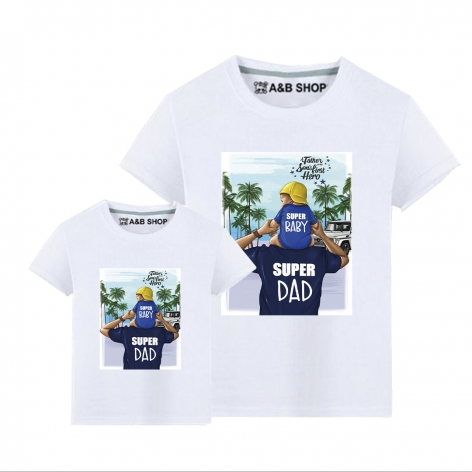 Super Baby & Super Dad T-shirt