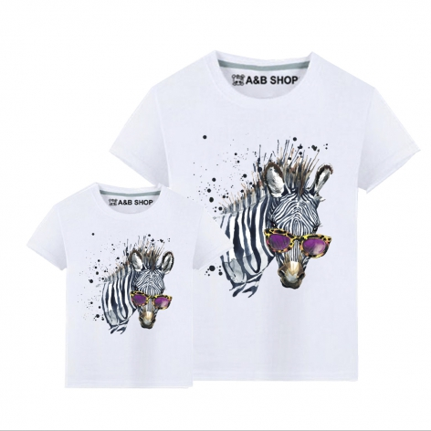Zebra fashion t-shirt