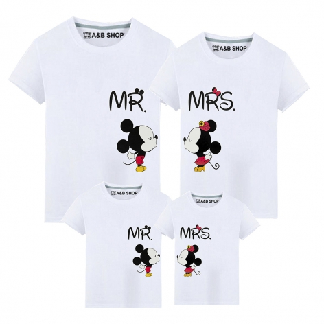 Weißes Mr & Mrs Mouse T-Shirt