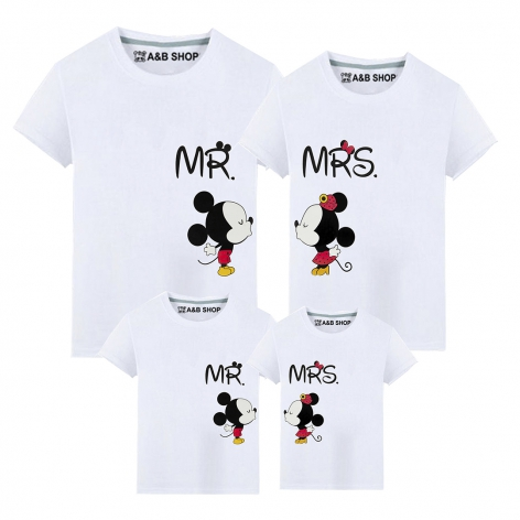 White Mr & Mrs Mouse T-shirt