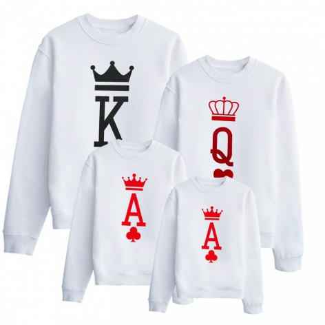 King-Queen sweatshirt