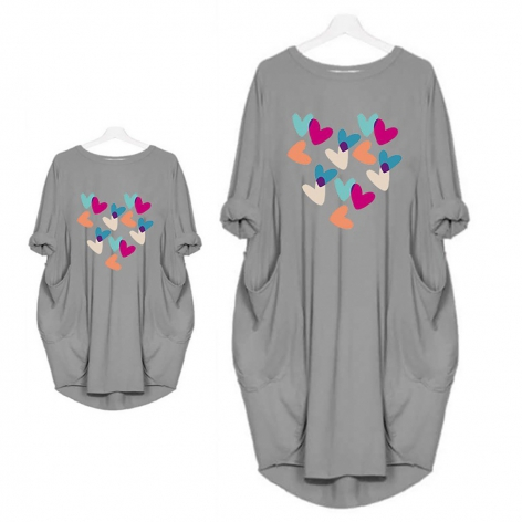 Colorful hearts dress with...