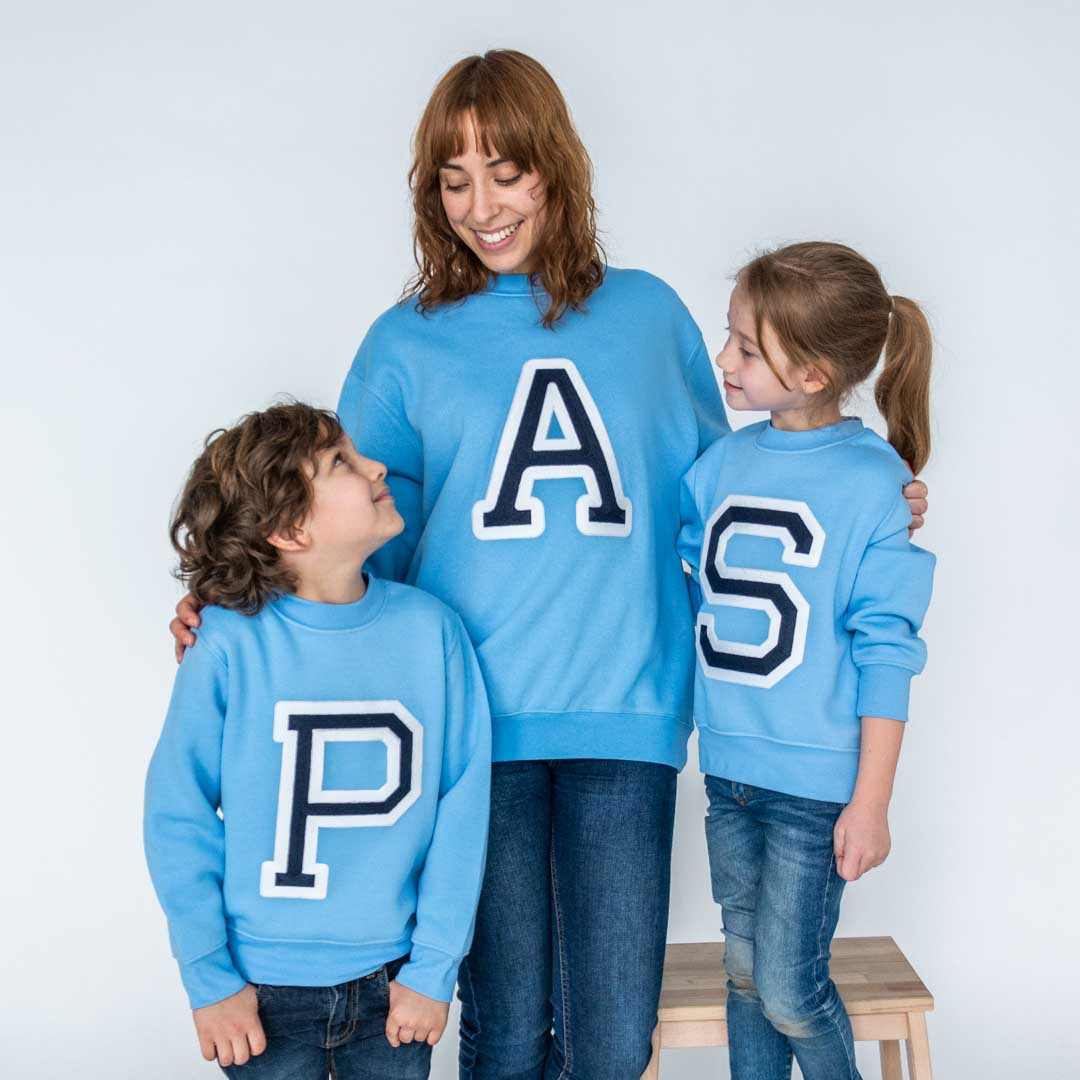 Initials Sweatshirt Light Blue