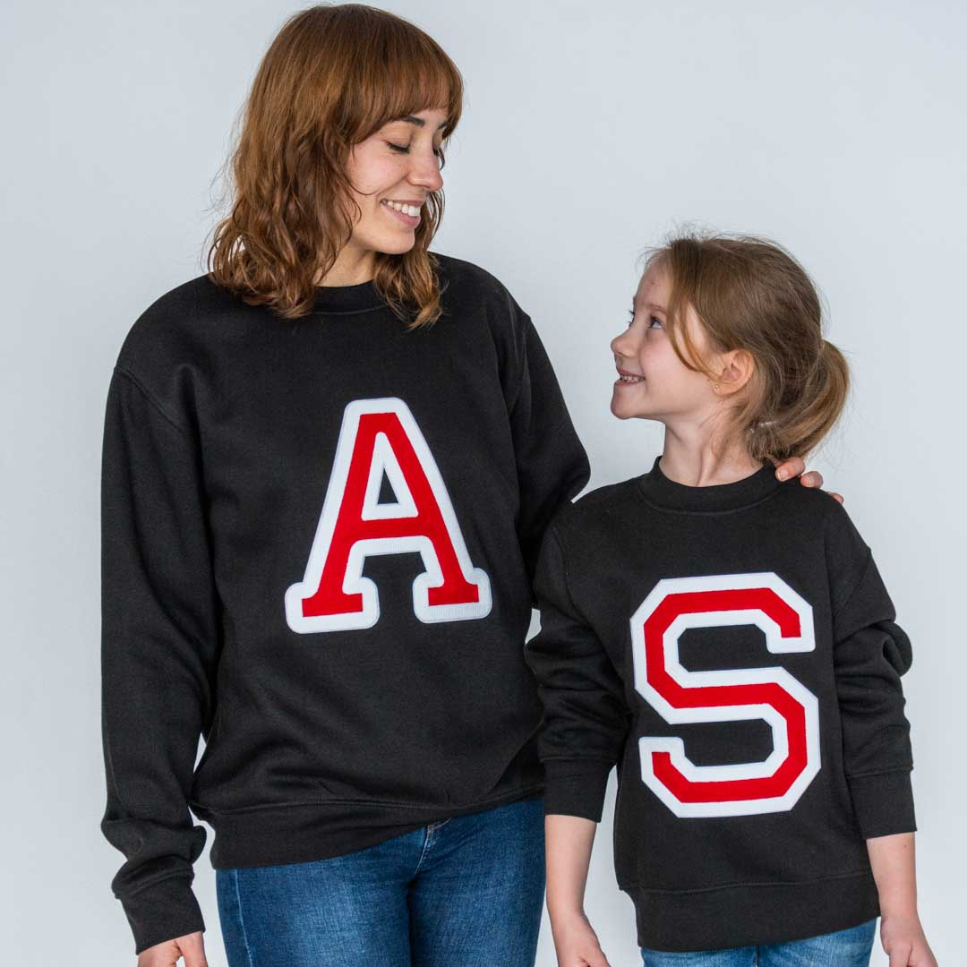 Initials Sweatshirt Black