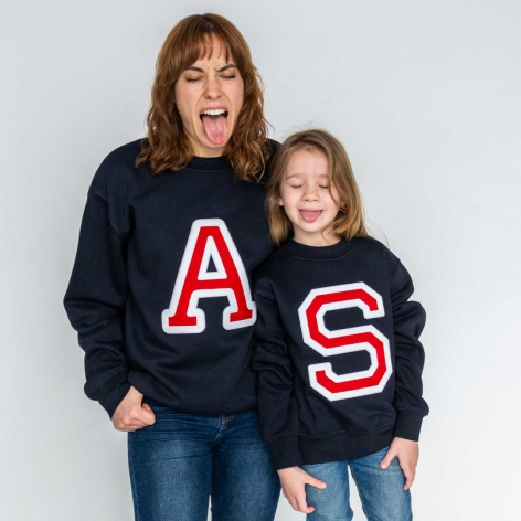 Initials Sweatshirt Navy blue
