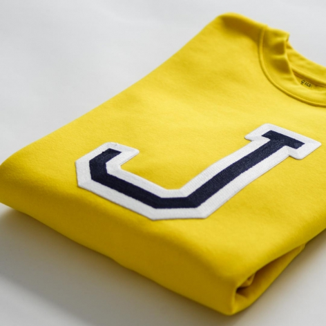 Initials Sweatshirt Yellow