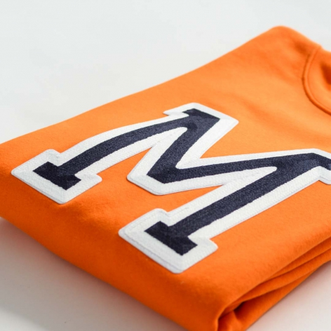 Initials Orange Sweatshirt