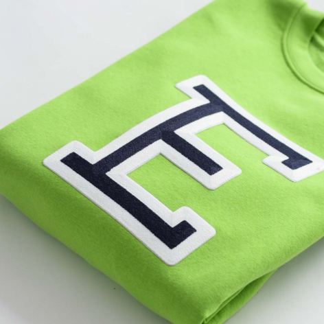 Bright green Initials...