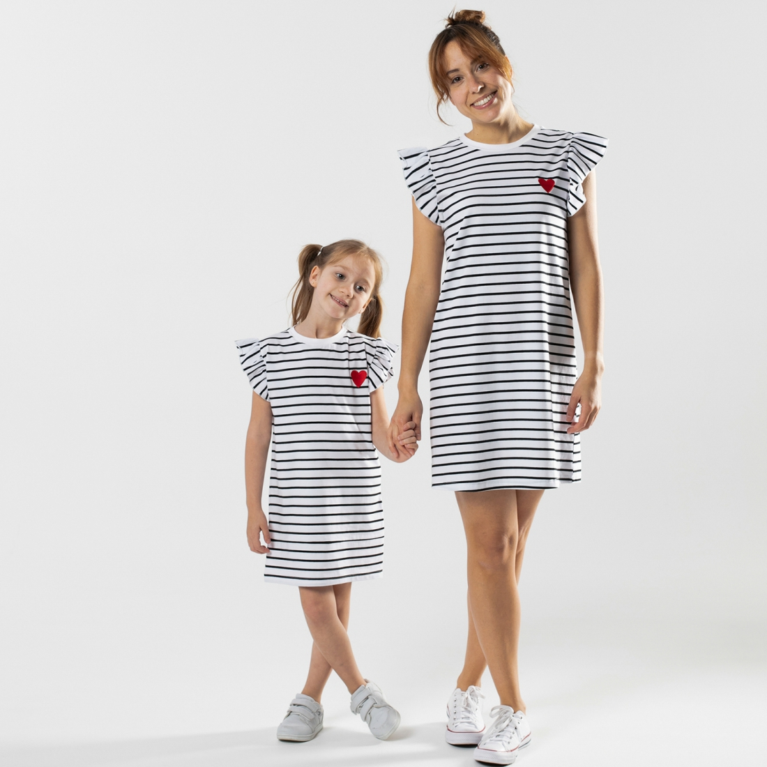 Stripes with heart dress