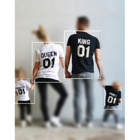 CAMISETA KING-QUEEN-PRINCESS-PRINCE