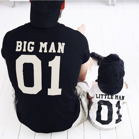 T-SHIRT BIG MAN - LITTLE MAN
