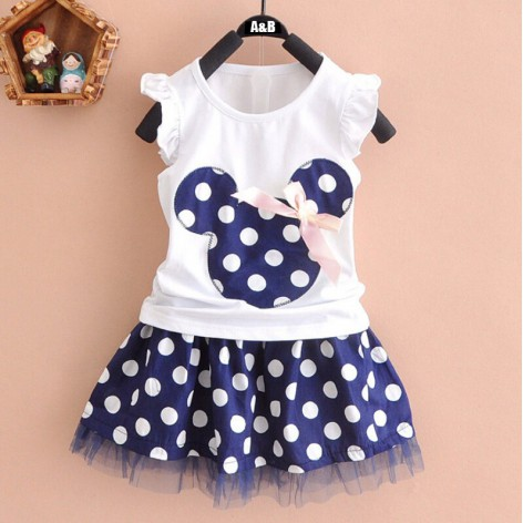 CONJUNTO MINNIE TOPITOS AZUL